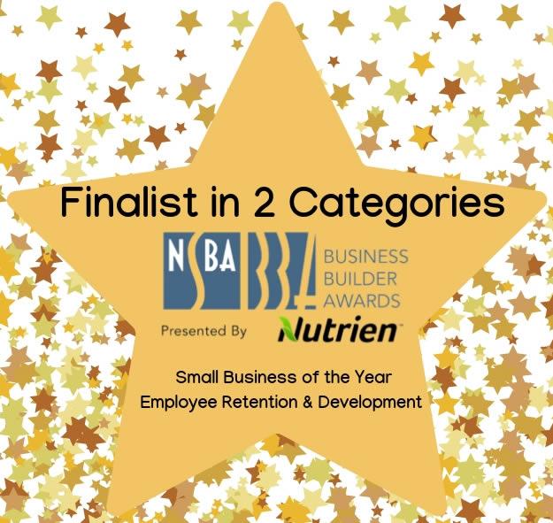 NSBA Business Builder Award Finalist in 2 Categories